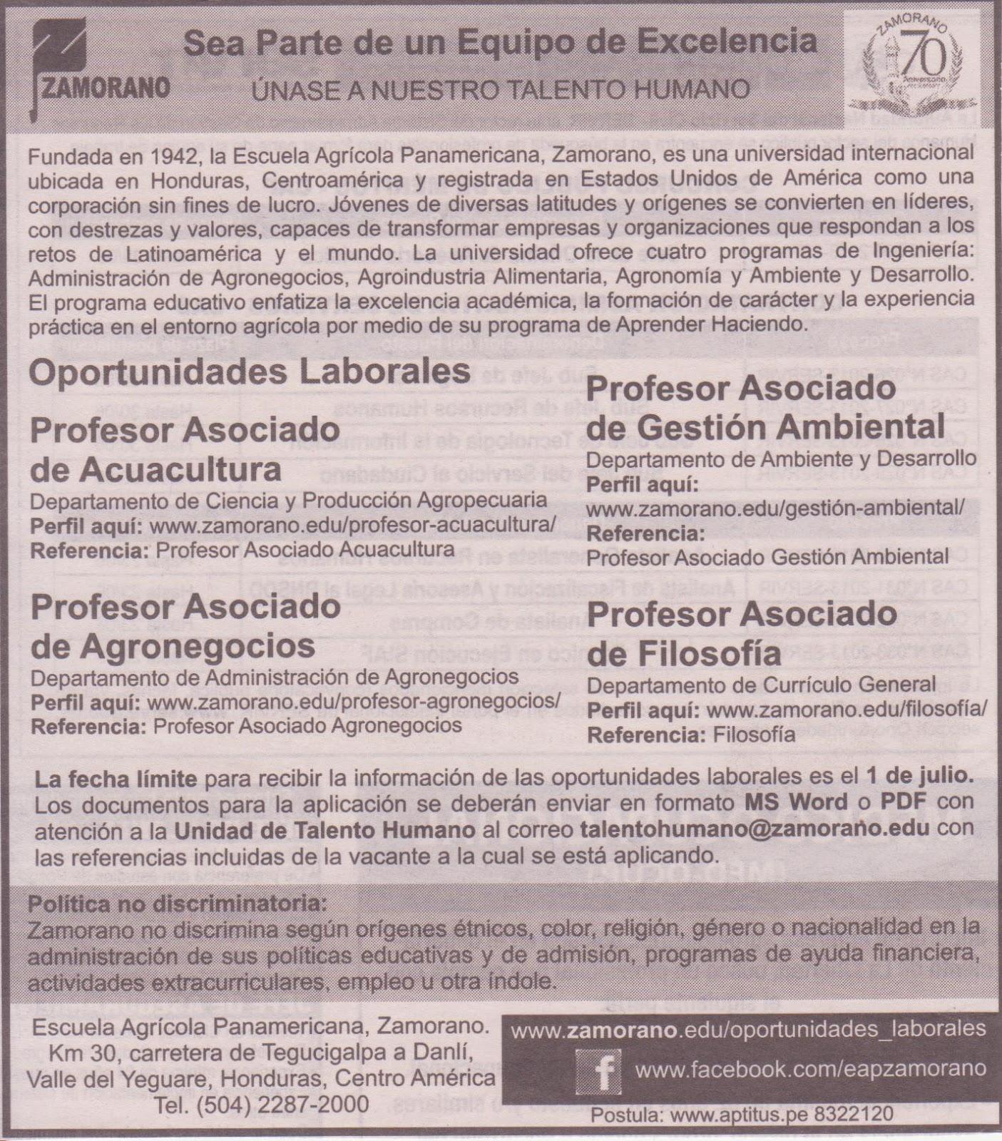 Perubi logos convocatoria docentes de acuacultura y for Convocatoria para docentes