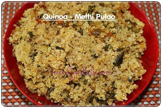 Quinoa &#8211; Methi Pulao