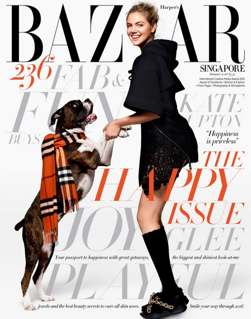 Daily delight: Kate Upton for Harper\'s Bazaar Singapore