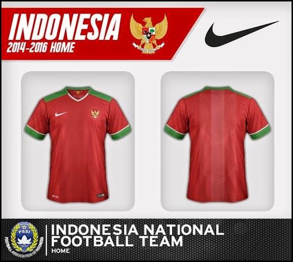 Jual Jersey Timnas Indonesia 2014-2016 Grade Ori Home Away AFF Suzuki Cup 2014 - 2016