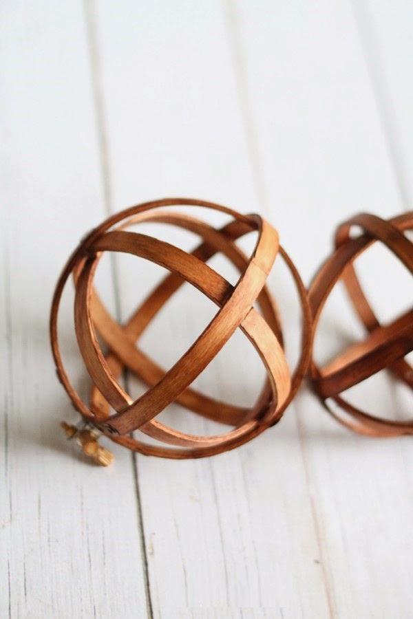 Esferas decorativas con Bastidores de bordado, Decoracion Paso a Paso