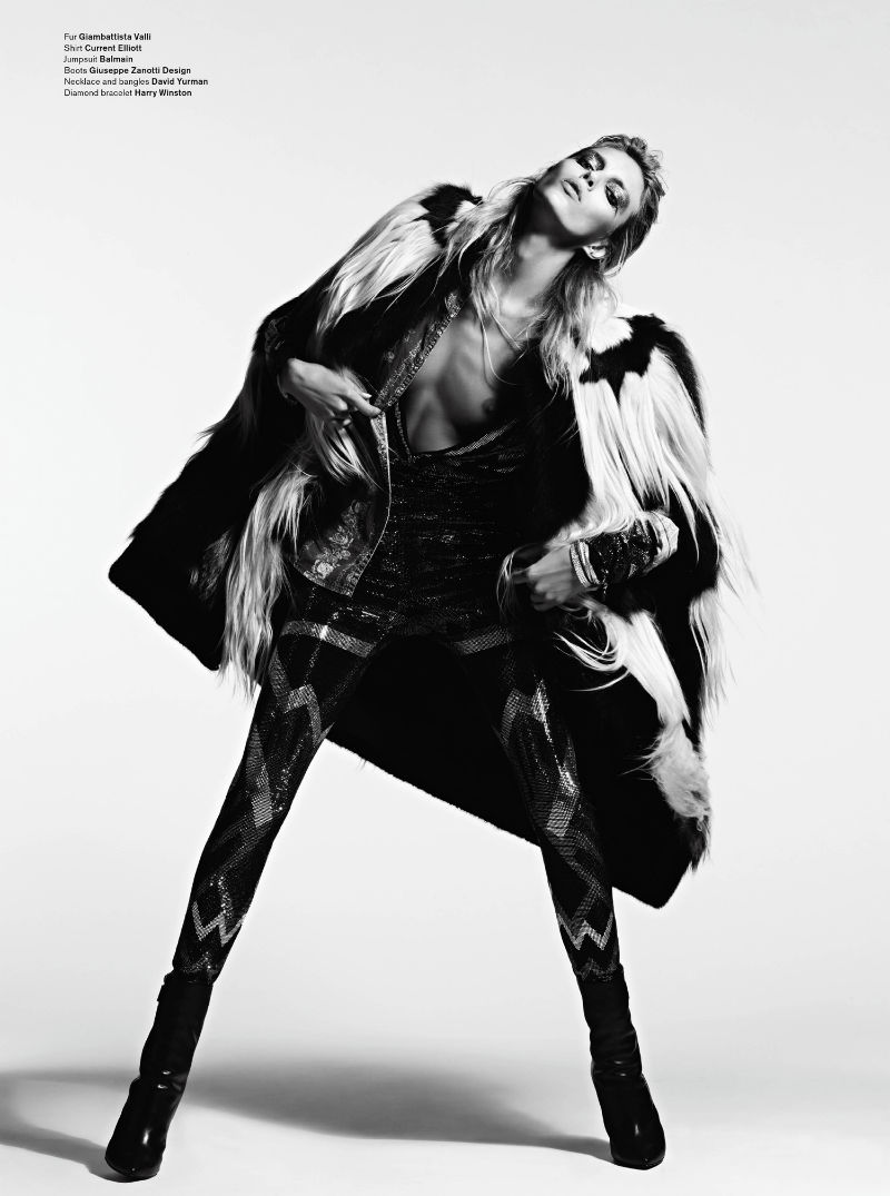 Anja Rubik by Hedi Slimane for V magazine V72