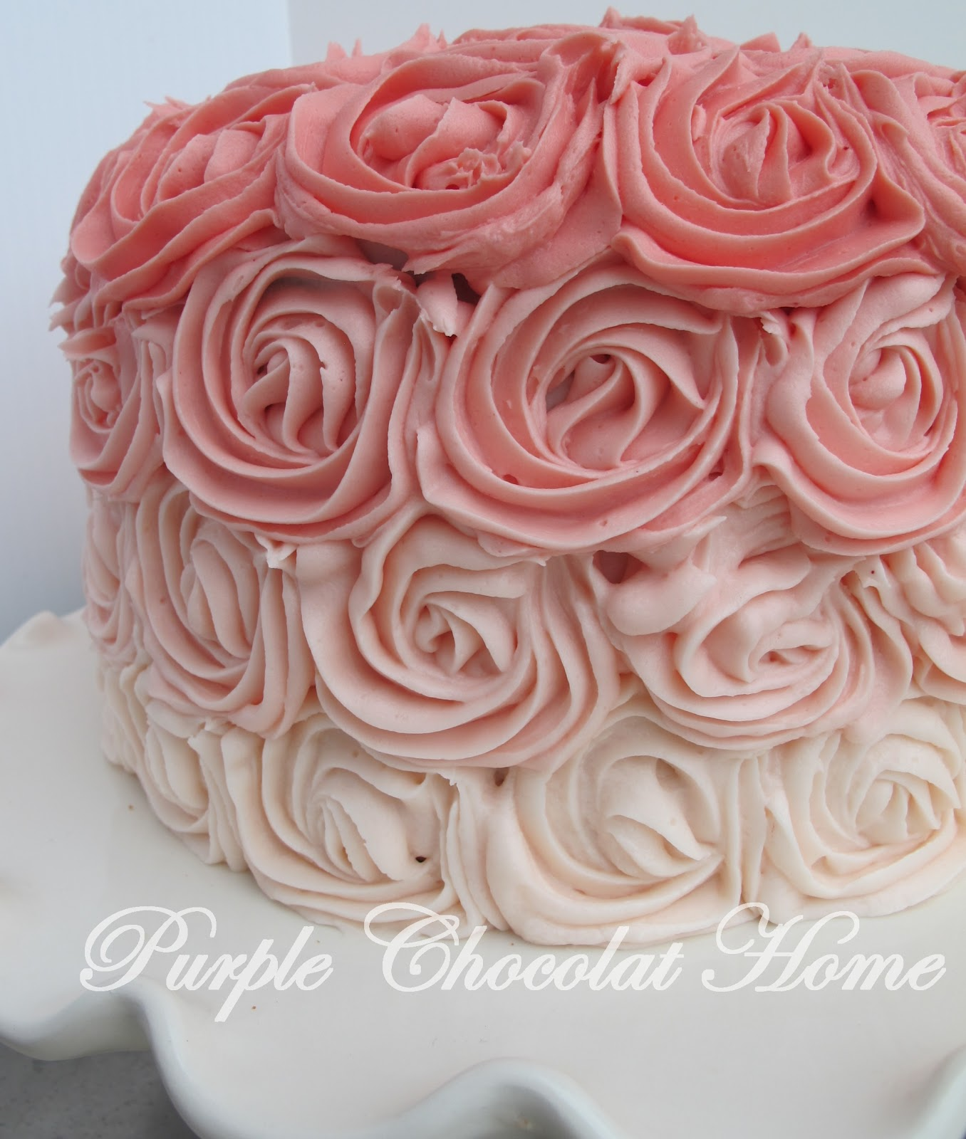 Images For Rose Cake : Ombre Rose Cake - Purple Chocolat Home