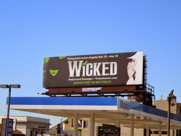 Wicked musical billboard LA 2014