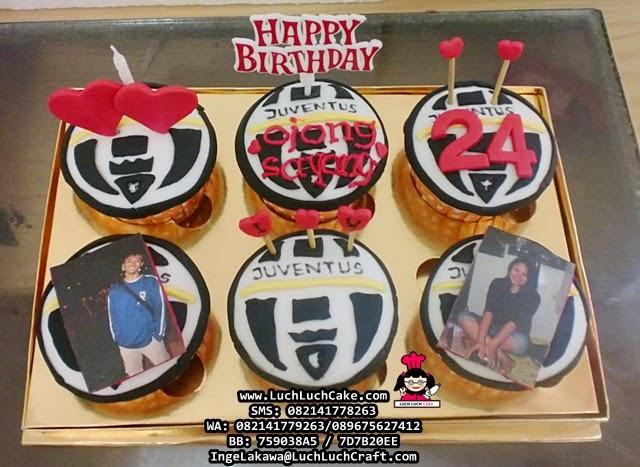 Cupcake Ulang Tahun Untuk Pacar Tema Juventus