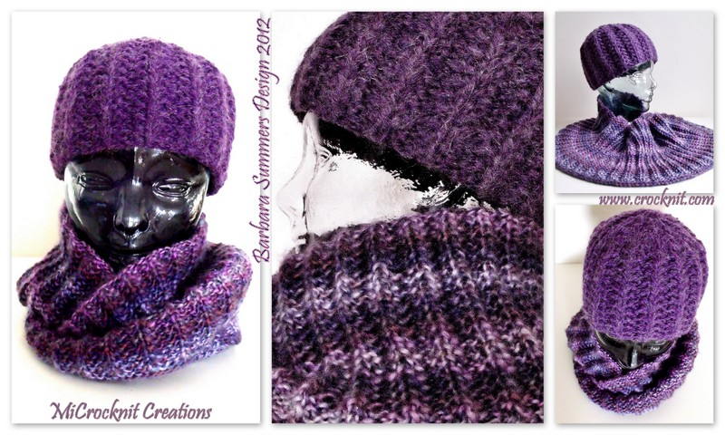 Knitting Pattern For Scarf And Beanie : MICROCKNIT CREATIONS: TIME TO KNIT...