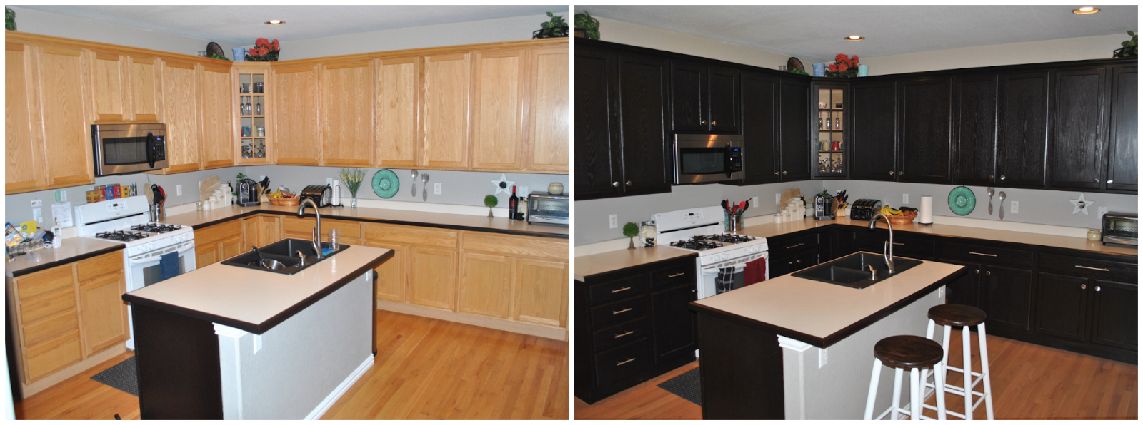 Kitchen Cabinets For Less Our Little Bubble Diy Expresso Kitchen Cabinets Yes Please