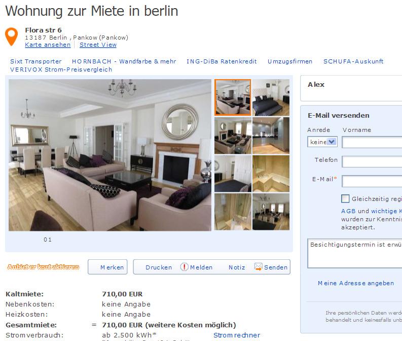 Wohnung zur miete in berlin informationen ber for Wohnung zur miete