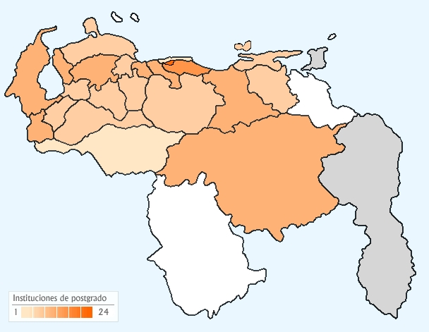 mapa de venezuela con sus estados
