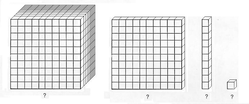 Transformative image with printable base ten blocks