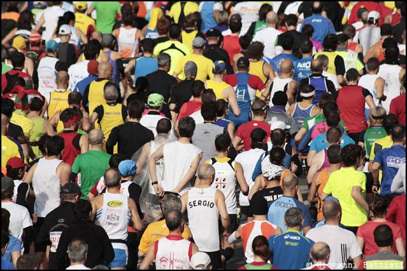 Fotografia della partenza della Maratona di Roma 2013