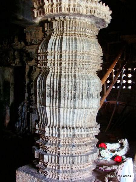 ornate pillar at Chennakeshava Temple Harnahalli