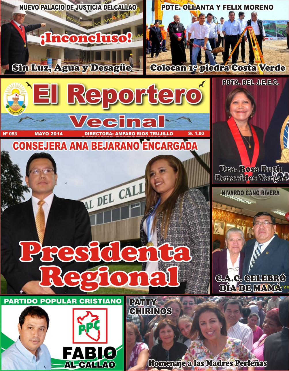"""EDICION 53 DE """"EL REPORTERO VECINAL"""""""
