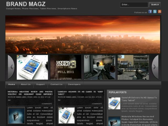 Brand Magz Blogger Template