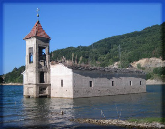 Drowned St. Nicolas Church in Macedonia