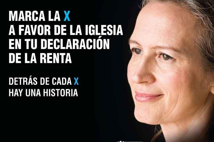 MARCA LA X A FAVOR DE LA IGLESIA CATÓLICA.