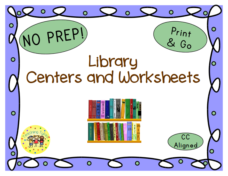https://www.teacherspayteachers.com/Product/Library-Thematic-Centers-and-Worksheets-Common-Core-Aligned-765458