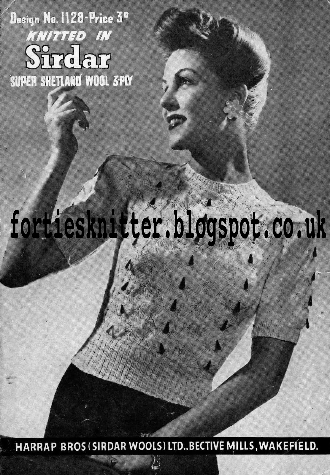 Sirdar Ladies Knitting Patterns : The Vintage Pattern Files: 1940s Knitting - Sirdar 1128 Womens Jumper
