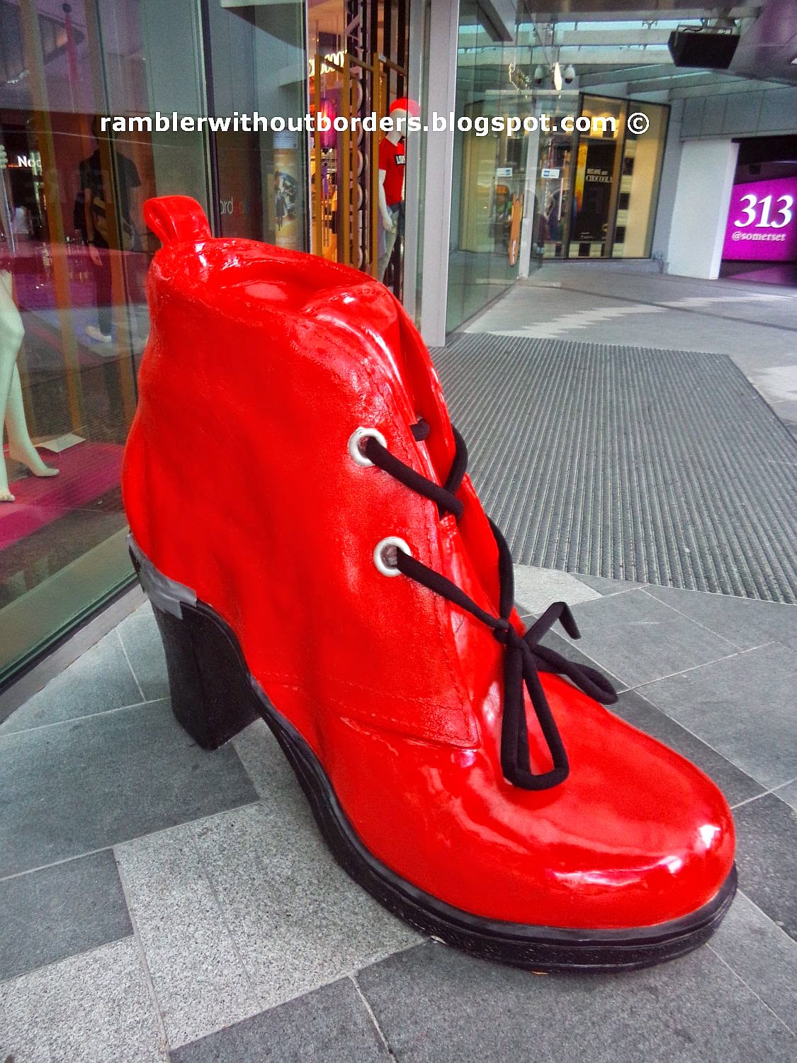 The Red Shoe outside the Orchard Road entrance, Orchard Gateway, Singapore