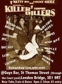Killer Dillers club flyer