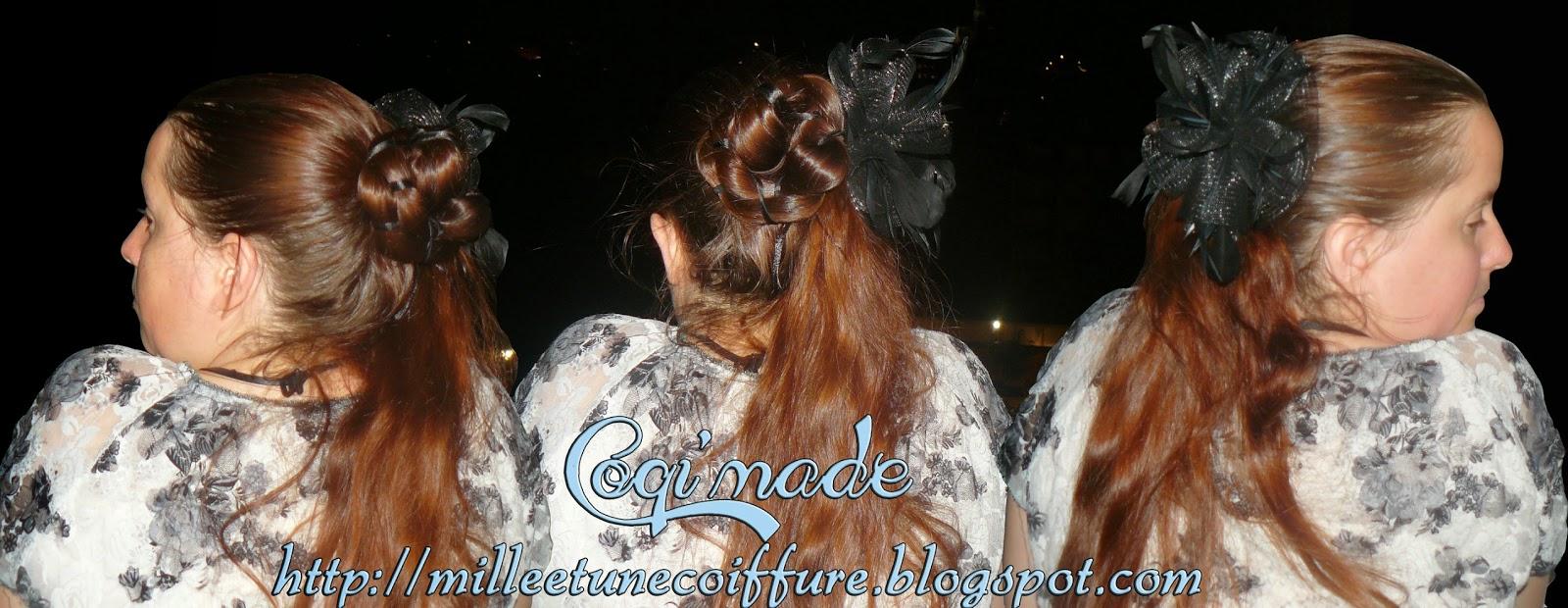 1001 coiffures foulard et ruban - Demi queue chignon ...