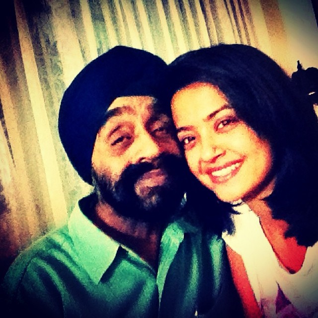 Surveen Chawla's Father