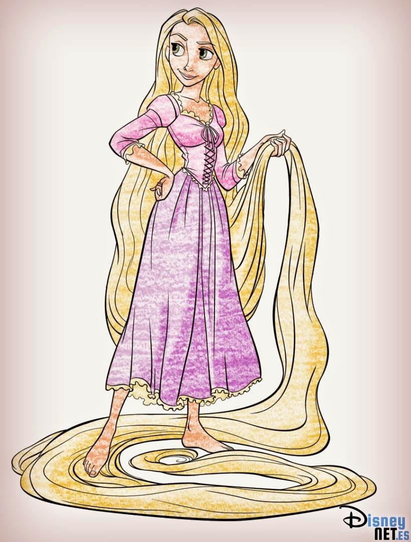 Como Dibujar A Rapunzel Dibujos Para Colorear E Imprimir