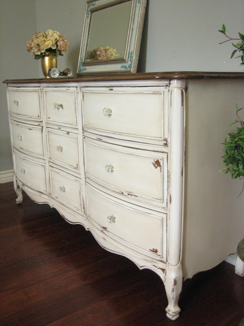 European paint finishes antiqued french dresser for Bedroom furniture 85225