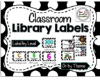 http://www.teacherspayteachers.com/Product/Classroom-Library-Labels-EDITABLE-Black-and-White-Polka-Dot-1289734
