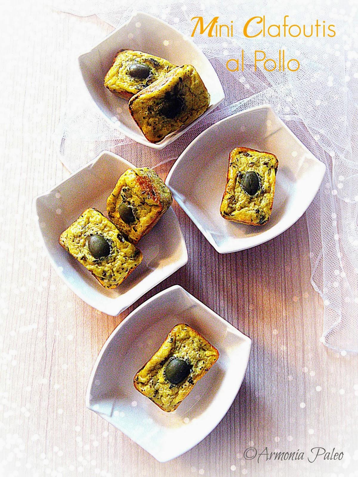 Mini Clafoutis al Pollo di Armonia Paleo