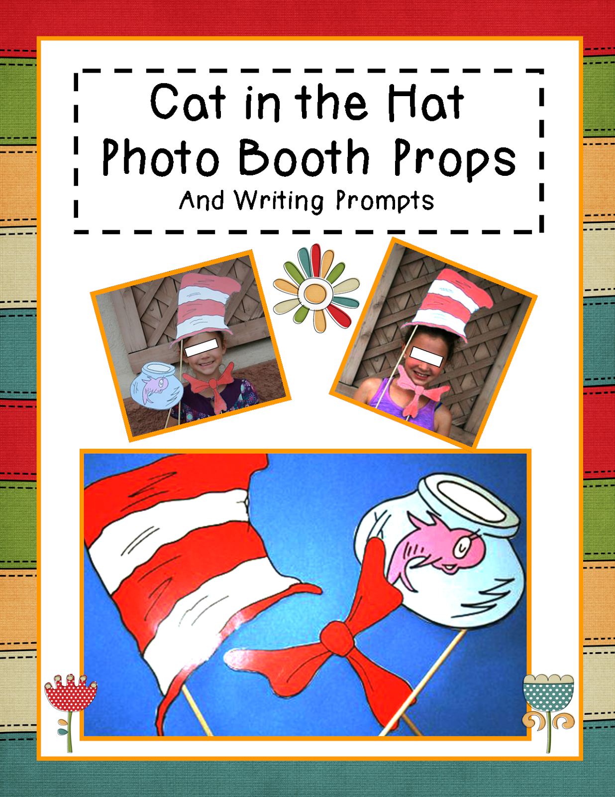 http://www.teacherspayteachers.com/Product/Happy-Birthday-Dr-Seuss-Photo-Booth-Props-and-Writing-Propmts-1130476