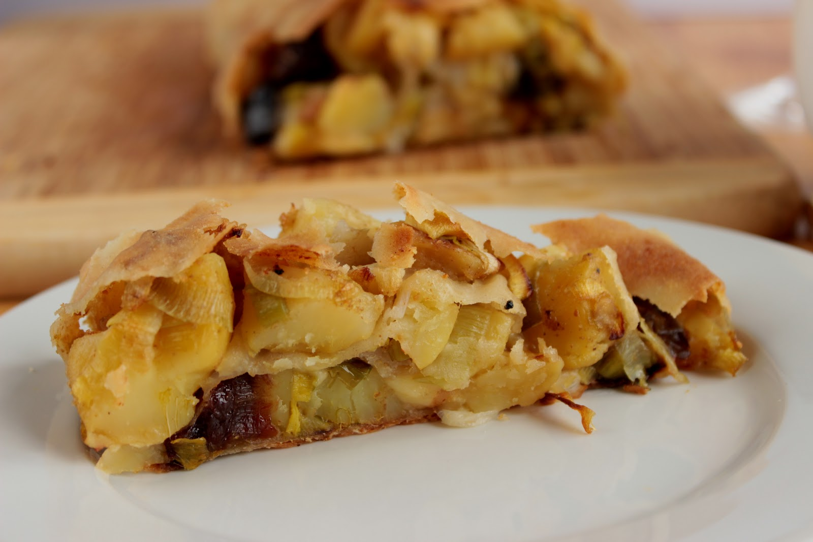 aardappel strudel,taart maken