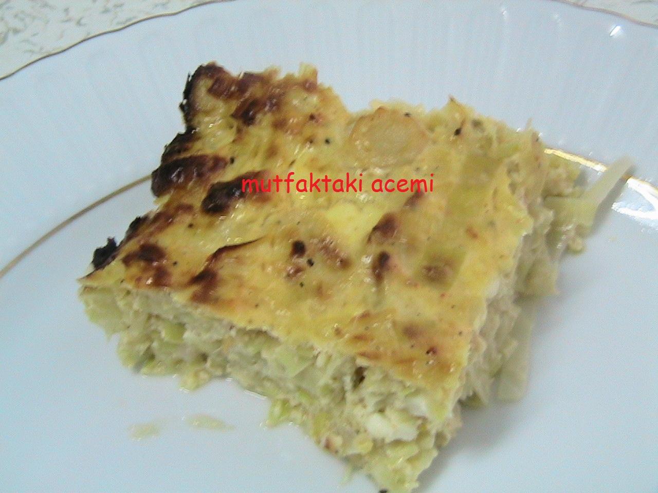 Fırında Peynirli Pırasa Tarifi