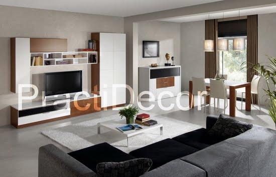 Ideas de modelos de amoblamientos modulares para sala tv audio for Salon comedor moderno