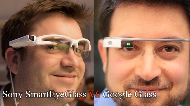 Sony SmartEyeGlass vs Google Glass - Gearbeat.blogspot.com