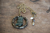 Perched Jade Owl Necklace by hotGlued