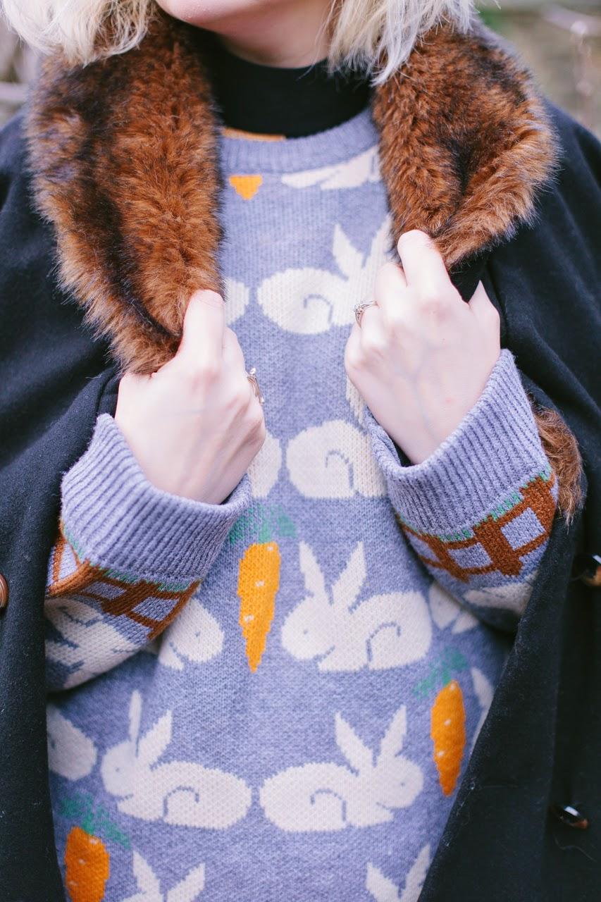 Scottish style, winter, fur, knitwear, Harris Tweed, The White Pepper, style, fashion blogger, bunnies