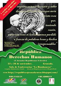 """X Jornadas Republicanas Federales - """"República y Derechos Humanos"""""""