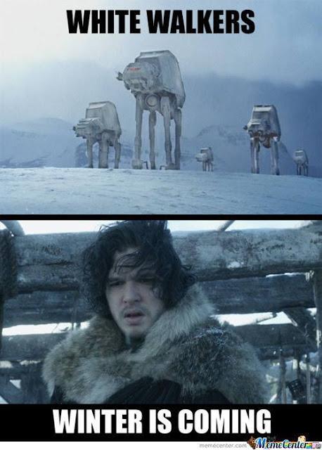 Star Wars caminantes blancos - Juego de Tronos en los siete reinos