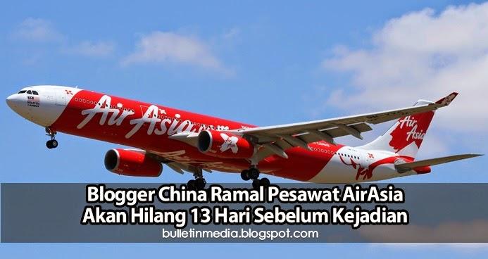 Blogger China Ramal Pesawat AirAsia Akan Hilang 13 Hari Sebelum Kejadian
