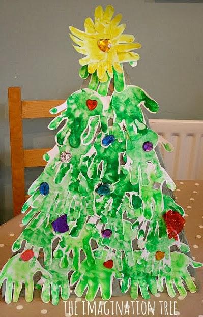 Weihnachtsbaum aus handabdruck
