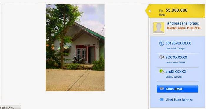 harga rumah sederhana merujuk pada olx co id