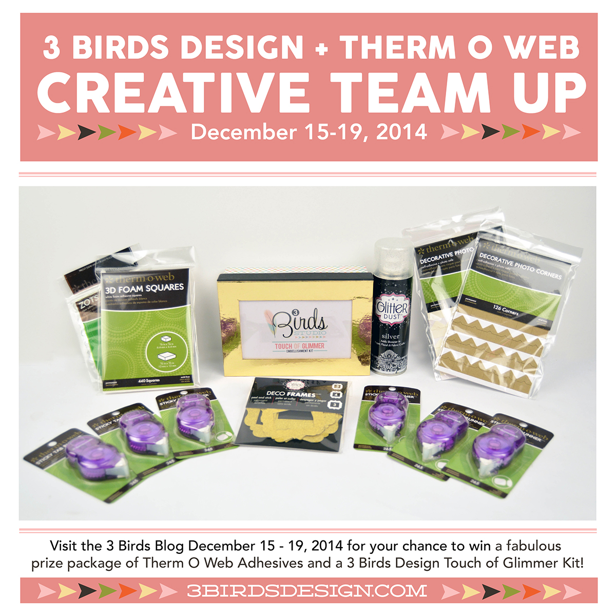 3 Birds Design and Therm O Web Creative Team Up