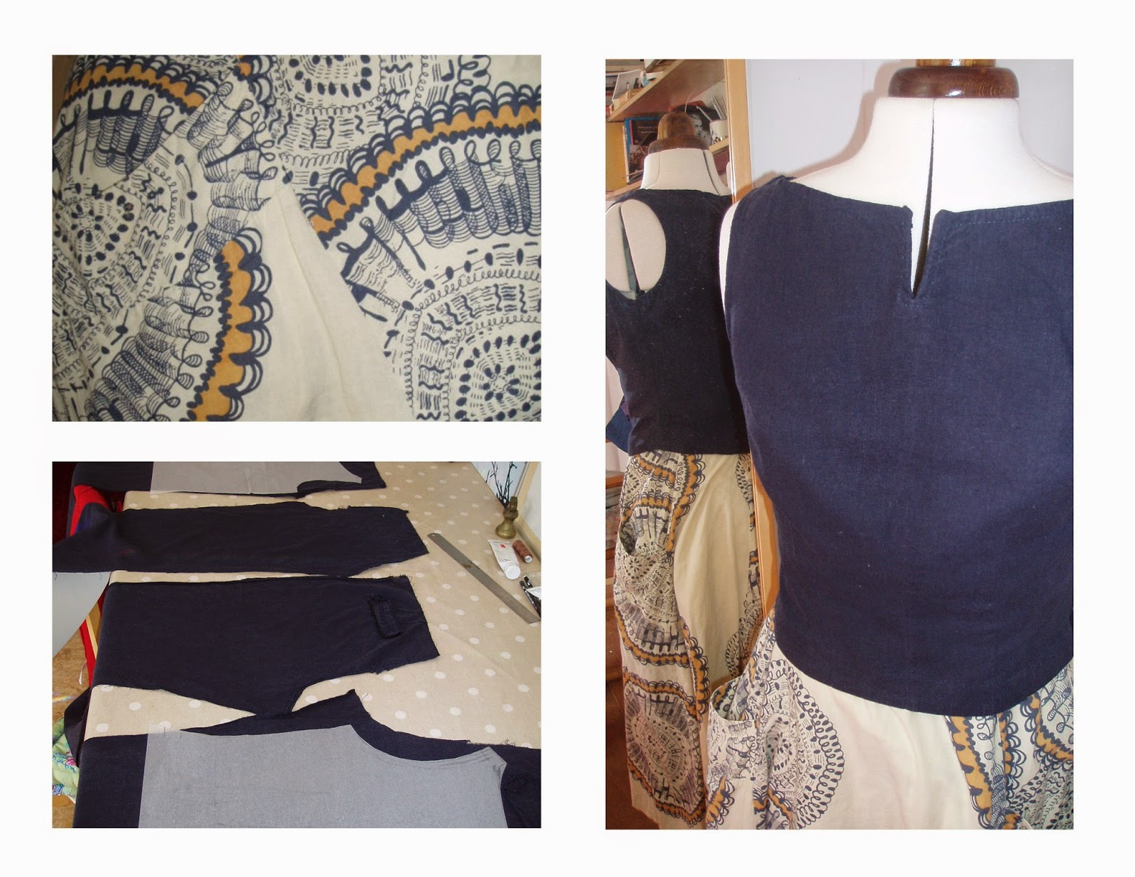 boat neck blouse upcycle trousers to top