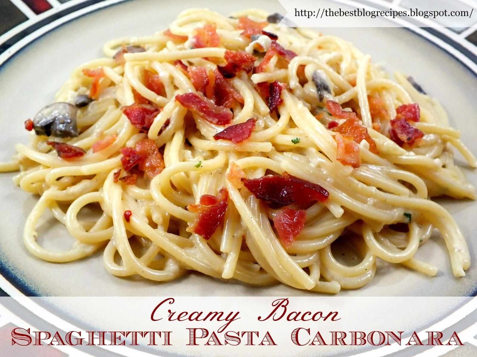 Pasta carbonara recipes easy