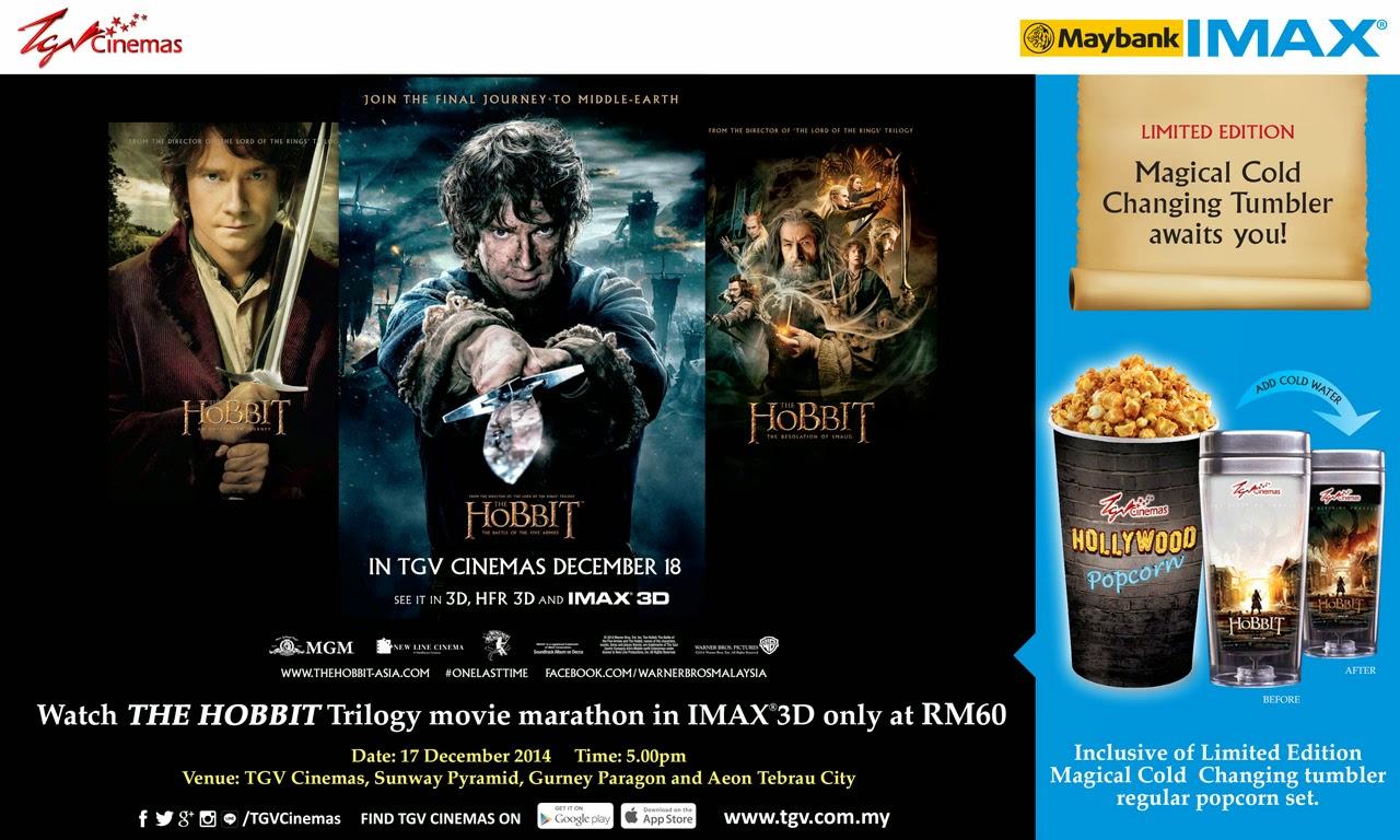 The Hobbit Trilogy Movie Marathon IMAX 3D TGV Cinema