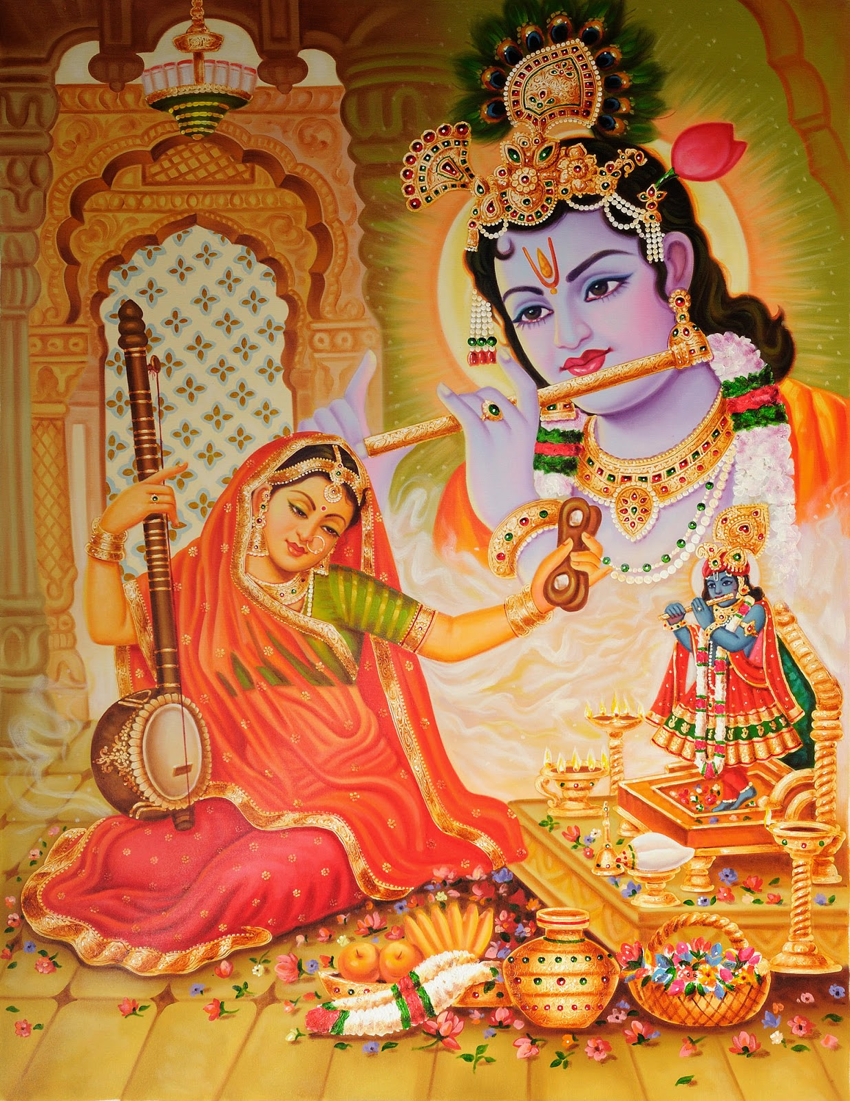 MeeraBia with Shree Krishna image