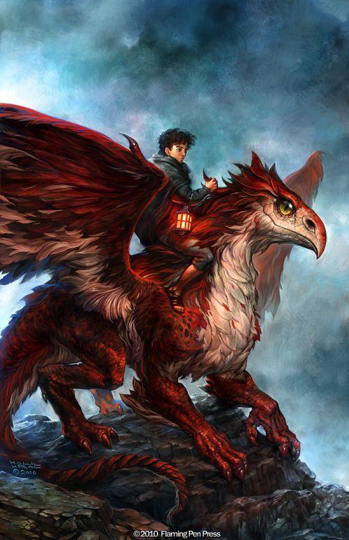 Halil Ural mrdream deviantart ilustrações fantasia arte conceitual Cavalgando criatura alada