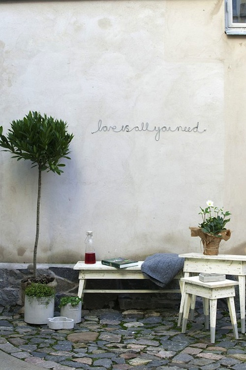Love+is+all+you+need... Garden Design Details: Letterforms and Words