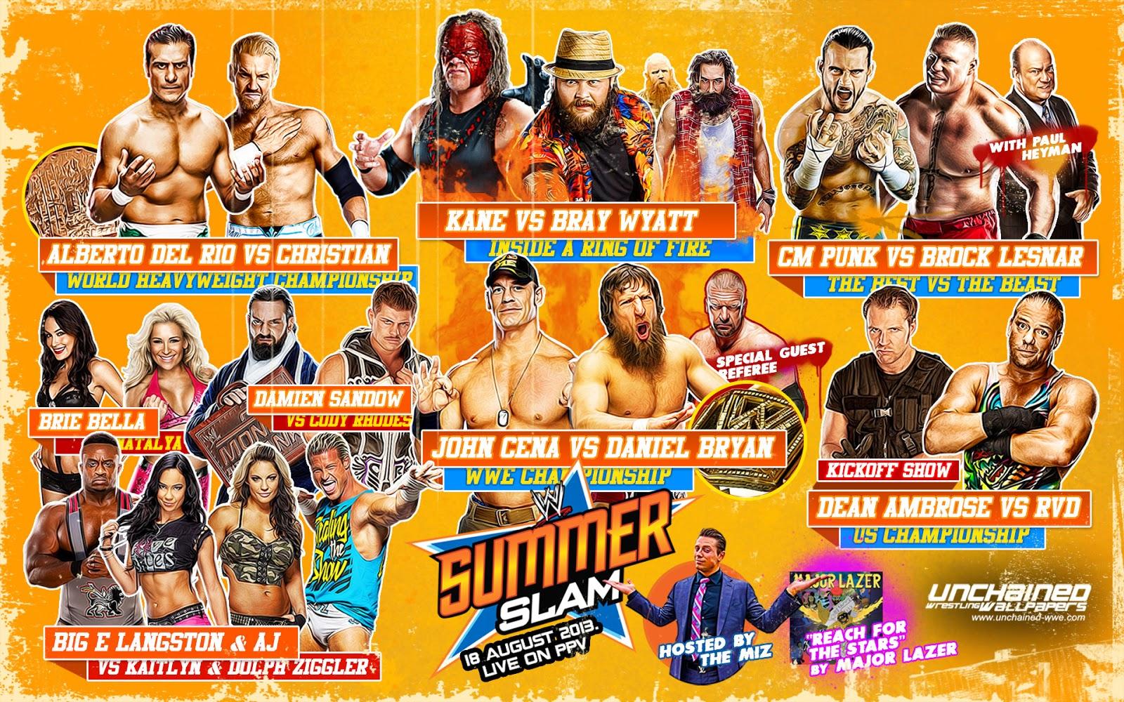 All Wwe Wrestlers 2013 Wwe summerslam 2013 reviewAll Wwe Wrestlers 2013